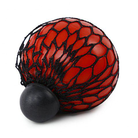 Cheap Mesh Grape Vent Ball Stress Relief Squeezing Toy - RED  Mobile