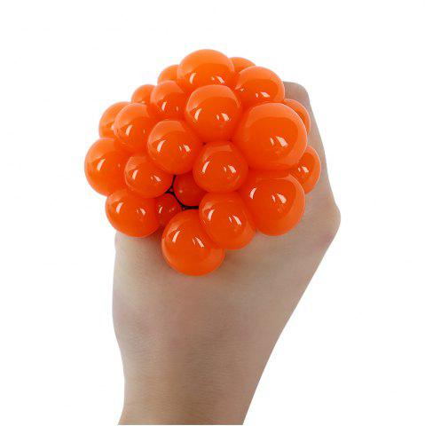 Cheap Mesh Grape Vent Ball Stress Relief Squeezing Toy - ORANGE  Mobile