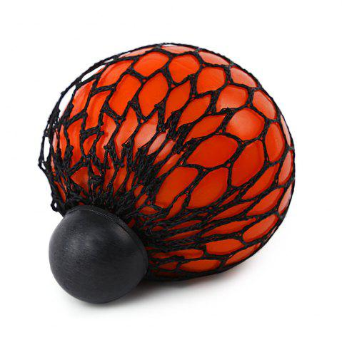 Affordable Mesh Grape Vent Ball Stress Relief Squeezing Toy - ORANGE  Mobile