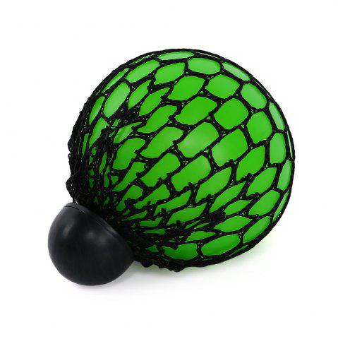 Fancy Mesh Grape Vent Ball Stress Relief Squeezing Toy - GREEN  Mobile