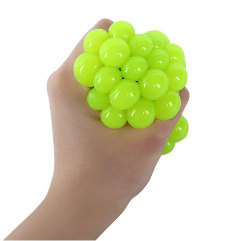 Store Mesh Grape Vent Ball Stress Relief Squeezing Toy - GREEN  Mobile