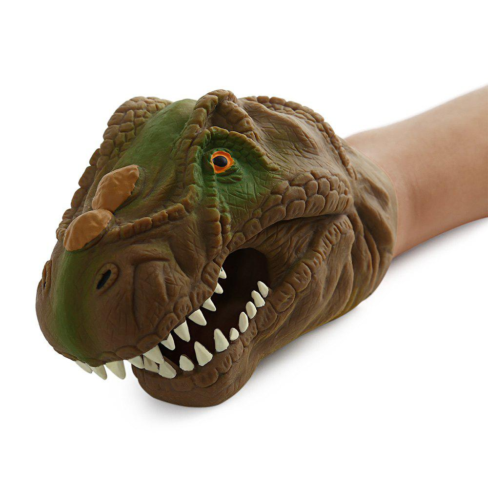 2018 Dinosaur Model Hand Puppet Toy In Brown Rosegal Com