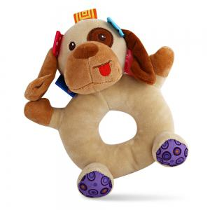 Sozzy Cartoon Animal Baby Handbell Toy - COLORMIX DOG