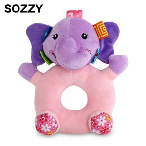 Sozzy Cartoon Animal Baby Handbell Toy - Colormix - Elephant