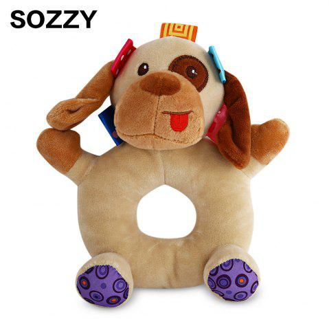 Cheap Sozzy Cartoon Animal Baby Handbell Toy COLORMIX DOG
