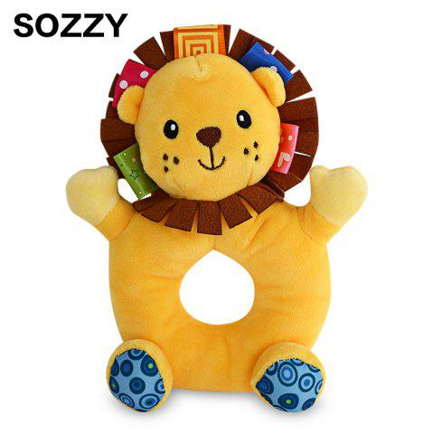 Affordable Sozzy Cartoon Animal Baby Handbell Toy COLORMIX LION