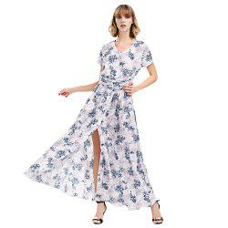 Short Sleeve Maxi Tea Dress