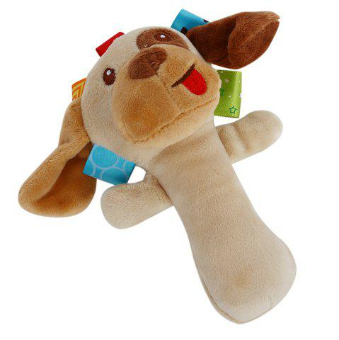 Outfit Sozzy Cartoon Plush Baby Handbell Toy - DOG COLORMIX Mobile
