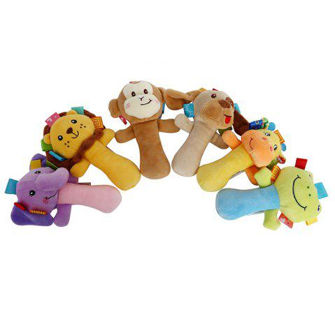 Chic Sozzy Cartoon Plush Baby Handbell Toy - DOG COLORMIX Mobile