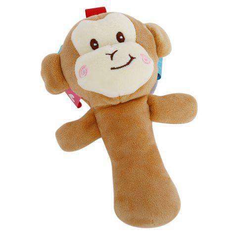 Chic Sozzy Cartoon Plush Baby Handbell Toy - MONKEY COLORMIX Mobile