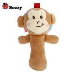 Sozzy Cartoon Plush Baby Handbell Toy - COLORMIX