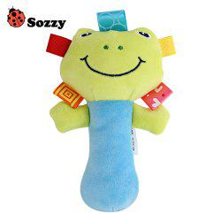 Sozzy Cartoon Plush Baby Handbell Toy - COLORMIX FROG