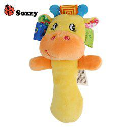 Sozzy Cartoon Plush Baby Handbell Toy -