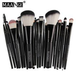 MAANGE 22pcs Foundation Blush Eye Shadow Lip Makeup Brushes Cosmetic Tools -