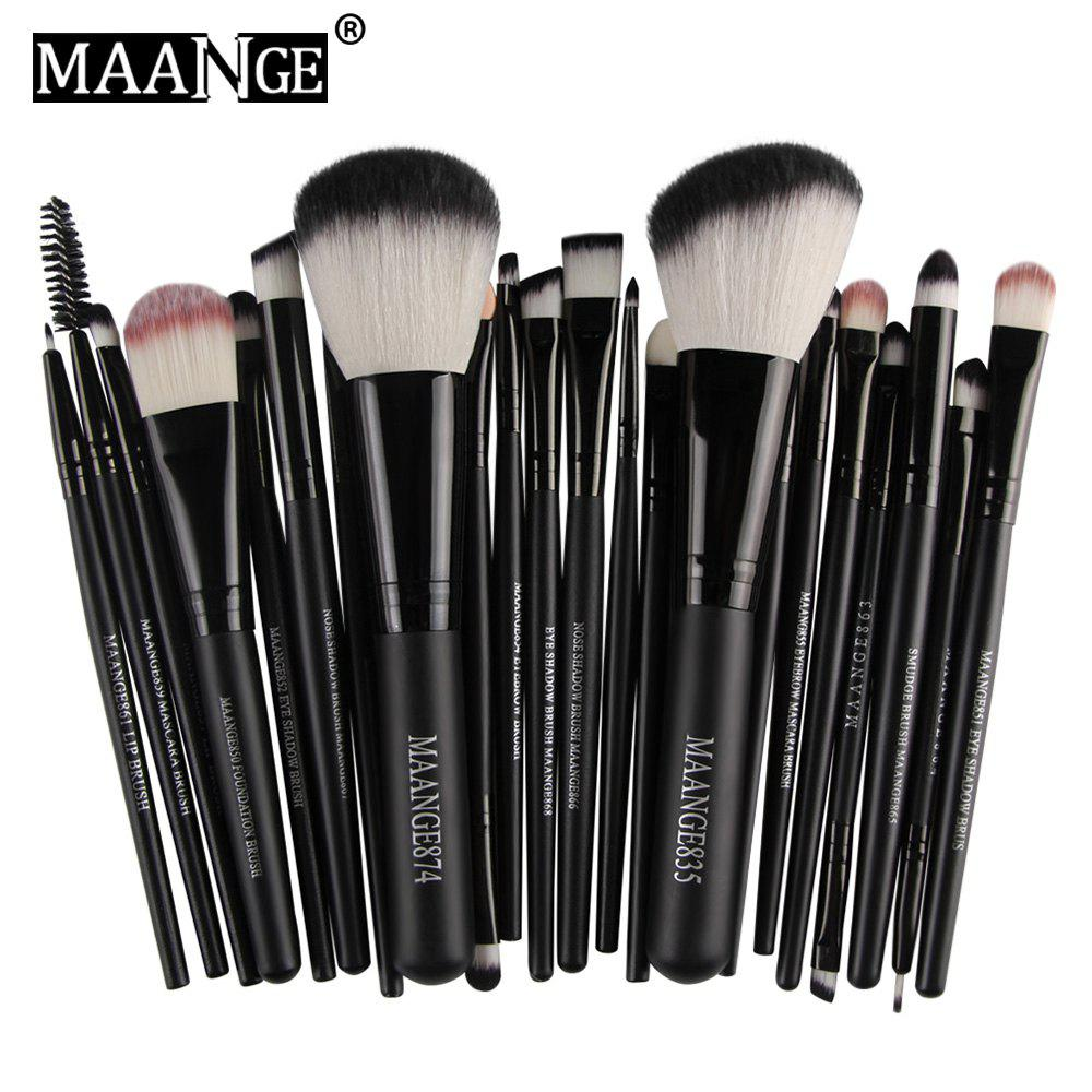 Store MAANGE 22pcs Foundation Blush Eye Shadow Lip Makeup Brushes Cosmetic Tools