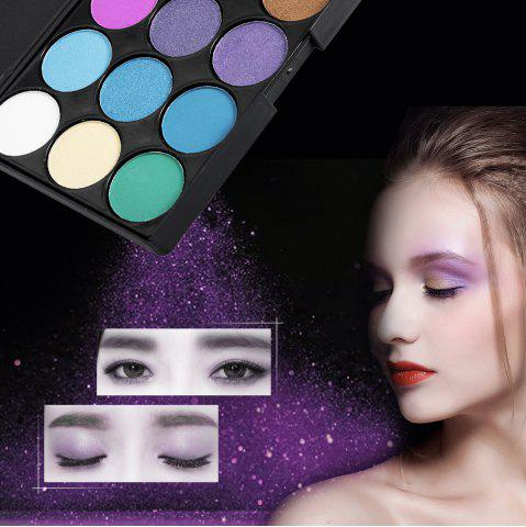 Unique 15 Colors Girl Makeup Natural Eye Shadow Palette with Brush - 03#  Mobile