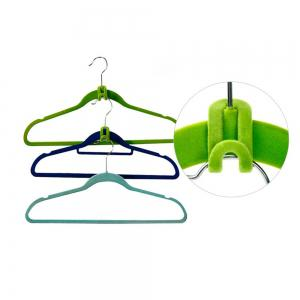 10pcs Creative Mini Flocking Clothes Hanger Hook Closet Organizer - WATER RED