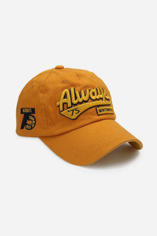 Affordable Casual Letter Print Hip-hop Sun Protection Baseball Hat for Unisex YELLOW