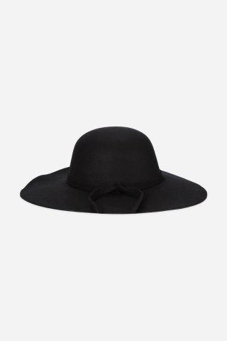 Fashionable Bowknot Design Dome Top Hat for Women - Black