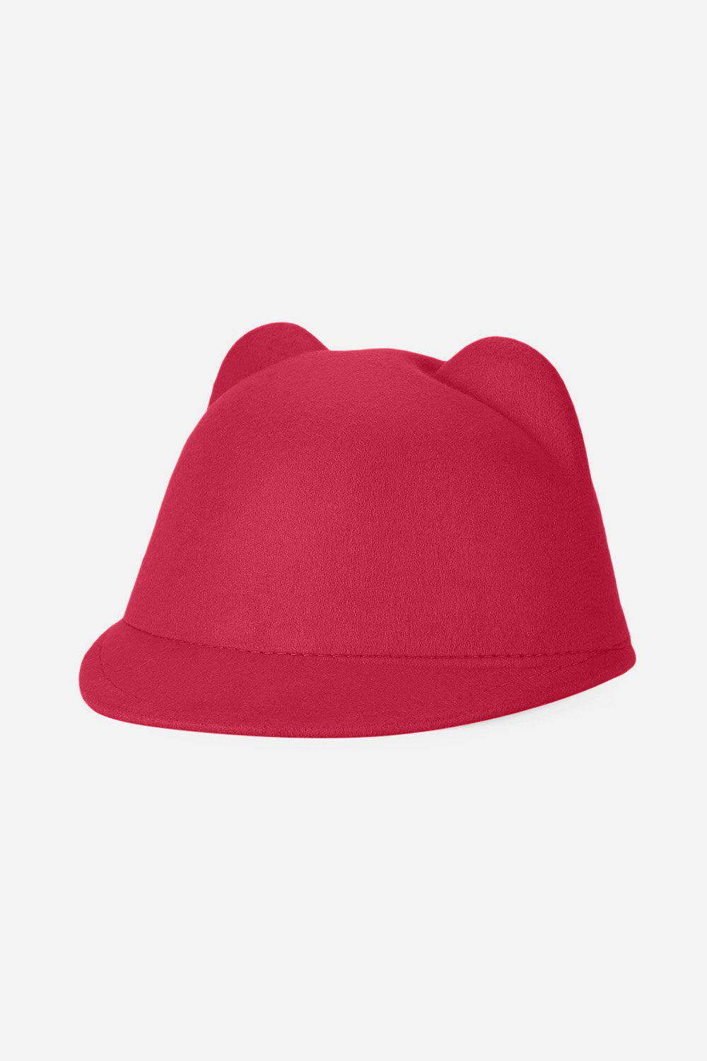 Chic Fashionable Cat Ear Design Solid Color Top Hat for Unisex