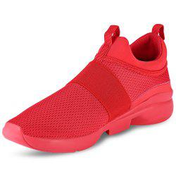 Casual Pointed Toe Mesh Spliced Breathable Slip-on Men Shoes -