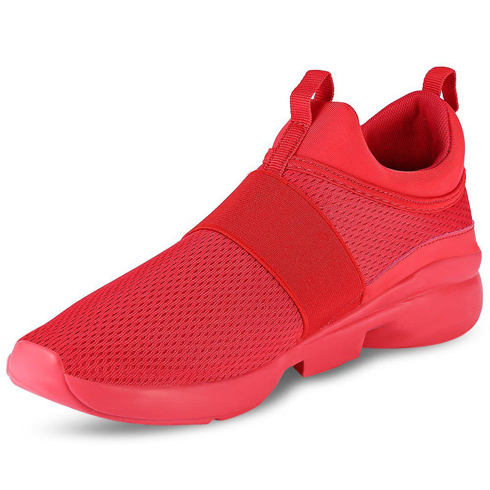 Outfits Casual Pointed Toe Mesh Spliced Breathable Slip-on Men Shoes