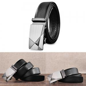 Fashionable Luxury Genuine Leather Automatic Buckle Belts for Men -