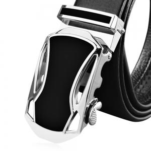 Chic Male Casual Automatic Sliding Buckle Girdle Leather Belt Strap Waistband -