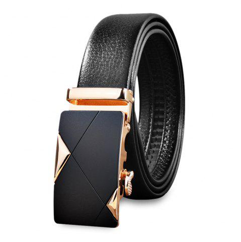 Discount Chic Men Casual Automatic Sliding Buckle Girdle Leather Belt Strap Waistband