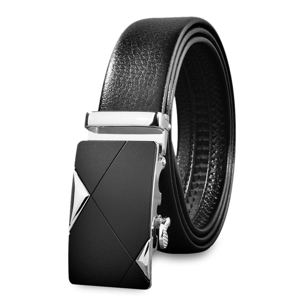 Store Chic Men Casual Automatic Sliding Buckle Girdle Leather Belt Strap Waistband