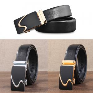 Stylish Simple Casual Business Automatic Buckle Belt for Men -