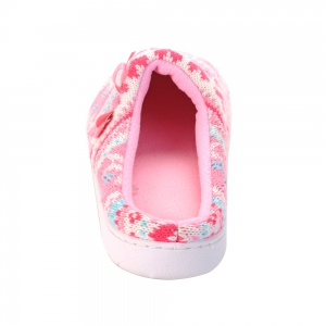 Ladies Cashmere Cotton Knitted Anti-slip House Slippers - PINK AND WHITE ONE SIZE(35-40)