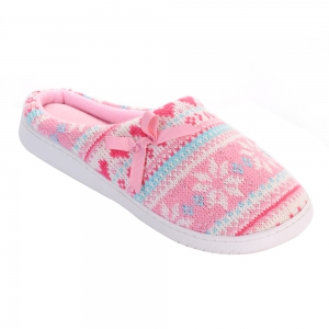 Ladies Cashmere Cotton Knitted Anti-slip House Slippers -
