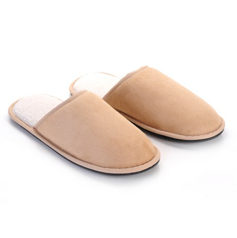Fancy Men Mirco Fabric House Slippers Lining TPR Outsole - 41 CAPPUCCINO Mobile