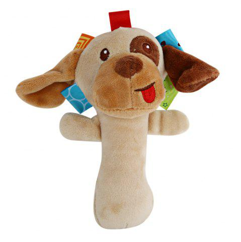 Store Sozzy Cartoon Plush Baby Handbell Toy - DOG COLORMIX Mobile