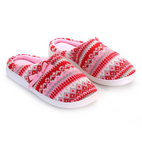 Outfits Ladies Cashmere Cotton Knitted Anti-slip House Slippers