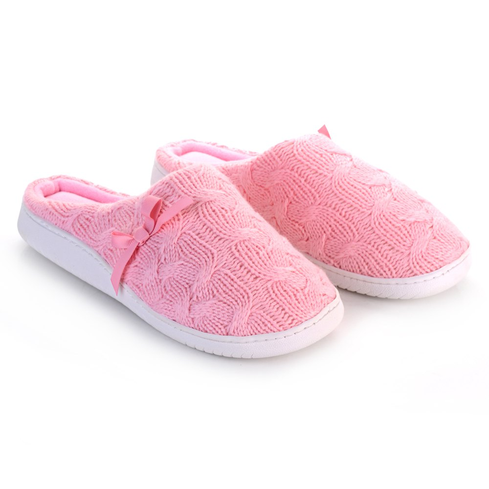 Latest Ladies Cashmere Cotton Knitted Anti-slip House Slippers