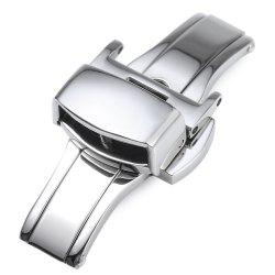 12MM Stainless Steel Watch Buckle Deployment Butterfly Clasp -