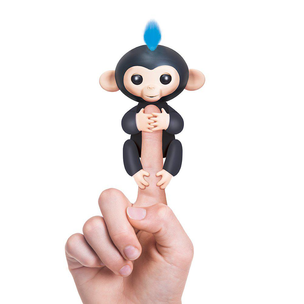 WowWee Fingerlings 6 Color Finger Monkey Smart Induction ToysHOME<br><br>Color: BLACK; Age Range: &gt; 6 years old; Battery: 4 x LR44 Button Batteries; Features: Educational,Mini;