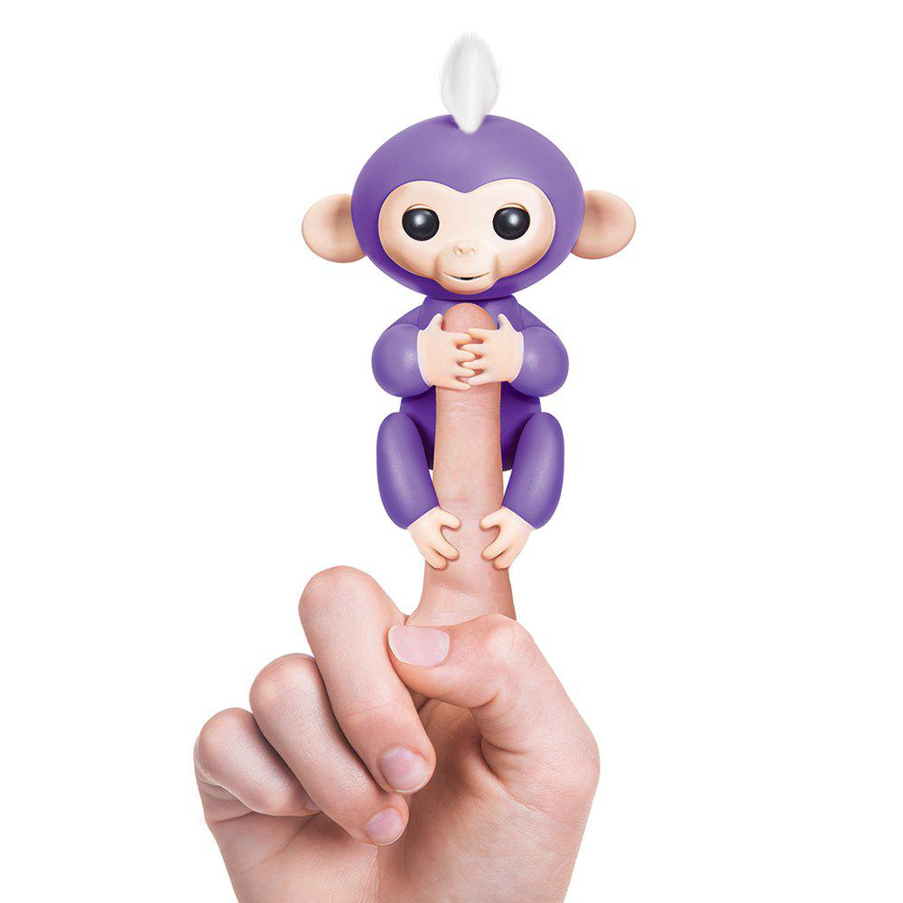 WowWee Fingerlings 6 Color Finger Monkey Smart Induction ToysHOME<br><br>Color: PURPLE; Age Range: &gt; 6 years old; Battery: 4 x LR44 Button Batteries; Features: Educational,Mini;