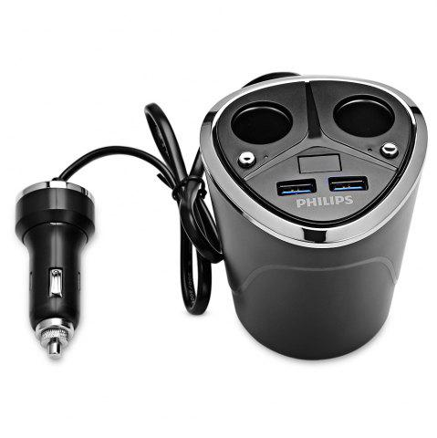 Philips DLP2029 Cup Shape Dual USB Car Charging Ports Adapter