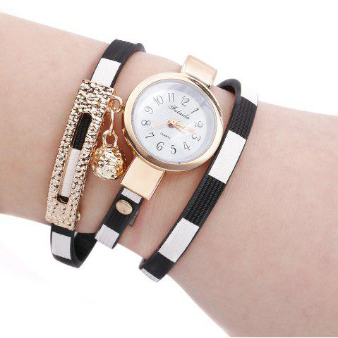 Hot FULAIDA Women Quartz Watch Leather Band Bangle Fashion Wristwatch