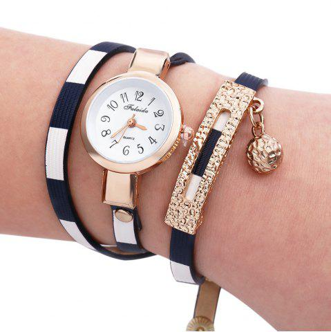 Affordable FULAIDA Women Quartz Watch Leather Band Bangle Fashion Wristwatch