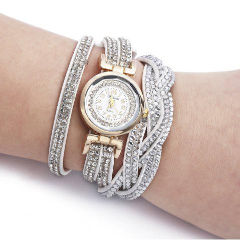 Store Fulaida Quartz Female Rhinestone Watch Fashion Bracelet Wristwatch Hand Decoration