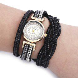 Fulaida Quartz Female Rhinestone Watch Fashion Bracelet Wristwatch Hand Decoration -