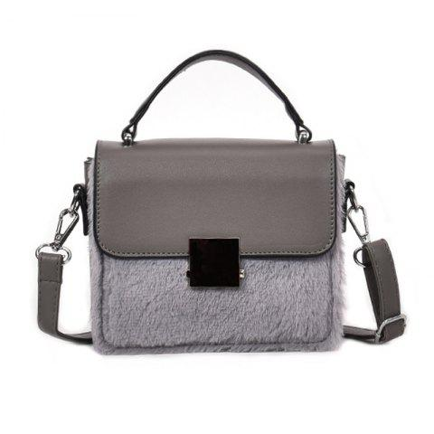 Fashion Simlpe Chic Sac Messenger couleur unie