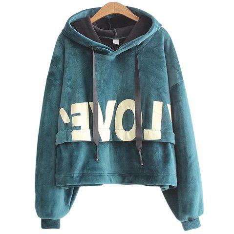 Buy New Lady'S Two Sided Velvet Mosaic of The Letter Hoodie