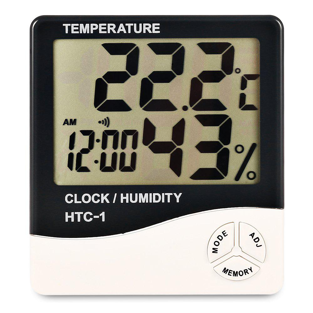 Shop LCD Digital Electronic Thermometer Hygrometer Temperature Humidity Meter Alarm Clock
