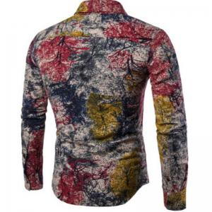 New Spring Men'S Long Sleeved Floral Shirt CS05 -