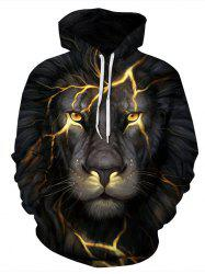 Men's Hoodie Animal Pattern Personality Long Sleeve Fashion Hoodie -